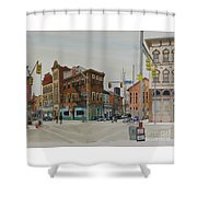 Carson Street Southside Pittsburgh Shower Curtain