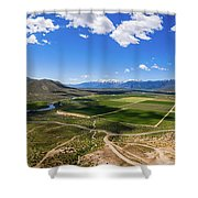 Carson Valley Panorama Shower Curtain