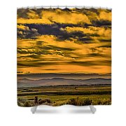 Carson Valley Sunrise Shower Curtain