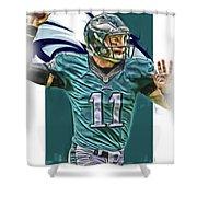 Carson Wentz Philadelphia Eagles Oil Art Shower Curtain