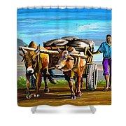 Cart Man Shower Curtain