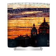 Cartagena Colombia Night Skyline Shower Curtain
