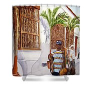 Cartagena Peddler I Shower Curtain