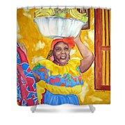 Cartagena Peddler II Shower Curtain
