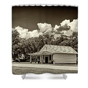 Carter Boyhood Home Shower Curtain