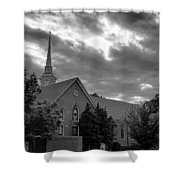 Carter Chapel Bridgewater College Va - Bw 1 Shower Curtain