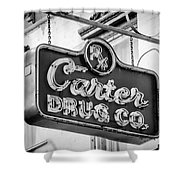 Carter Drug Co - Bw Shower Curtain