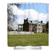 Carter House And Carnton Plantation Shower Curtain by John Black