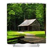 Carter Shields Cabin Shower Curtain