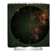 Cartesian Doodle Shower Curtain