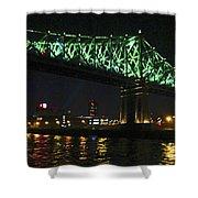 Cartier Bridge Night Shower Curtain