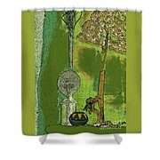 Cartoon Altar Of The Exotic #3 Shower Curtain