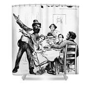 Cartoon: Anarchist, 1893 Shower Curtain