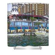 Cartoon Boats Shower Curtain