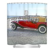 Cartoon Car Shower Curtain