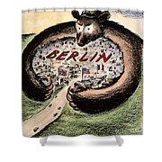 Cartoon: Cold War Berlin Shower Curtain