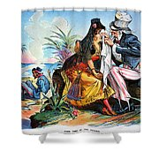 Cartoon: Cuba, 1895 Shower Curtain