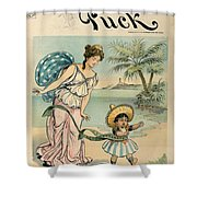 Cartoon: Cuba, 1902 Shower Curtain