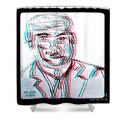 Cartoon Ink Sketch Of The Candidate Shower Curtain