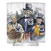Cartoon: New Deal, 1933 Shower Curtain