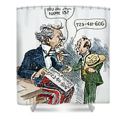 Cartoon: New Deal, 1935 Shower Curtain