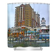 Cartoon Skyscraper  Shower Curtain