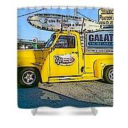 Cartoon Truck Shower Curtain