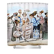 Cartoon: Womens Rights Shower Curtain