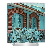 Carts And Door Shower Curtain