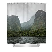 Carved By Glaciers Shower Curtain