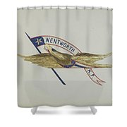 Carved Eagle Shower Curtain