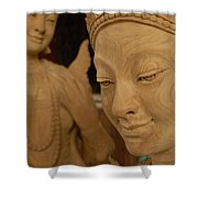 Carved Face Shower Curtain