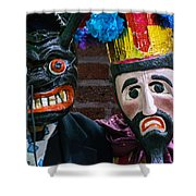 Carved Mask Shower Curtain