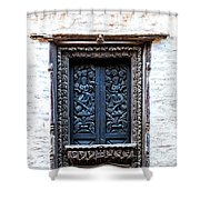 Carved Window Shutters Shower Curtain