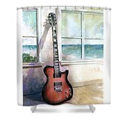 Carvin Electric Guitar Shower Curtain