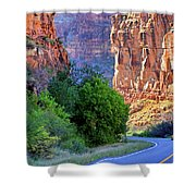 Carving The Canyons - Unaweep Tabeguache - Colorado Shower Curtain