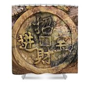 Carvings In Jade - 2 - My Lucky Coin  Shower Curtain