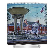 Cary Arts Center And Fountain Shower Curtain