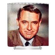 Cary Grant By John Springfield Shower Curtain