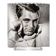 Cary Grant, Hollywood Legend By John Springfield Shower Curtain