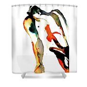 Cary - Orange Shower Curtain