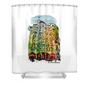 Casa Batllo Barcelona Shower Curtain