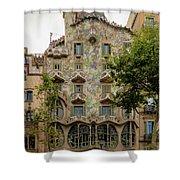 Casa Batllo In Barcelona, Spain Shower Curtain