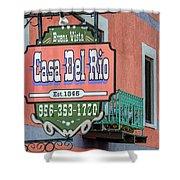 Casa Del Rio In Roma Texas Shower Curtain