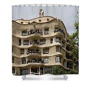Casa Mila In Barcelona, Spain Shower Curtain