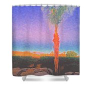 Casapaz  Palm At Dawn Shower Curtain