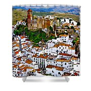 Casares From Signal Hill Shower Curtain