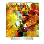 Cascade De Couleurs Shower Curtain