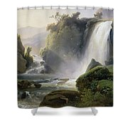 Cascade Dit Autrefois La Cascade De Tivoli Shower Curtain