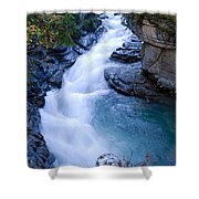 Cascade In The Maligne Canyon Shower Curtain